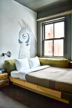 From Place To Space: Going to Hipsterville - Portland, Oregon Cozy Bedroom, Interior, Eclectic Home, Kids Room Design, Bedroom Interior, Bed Furniture, Country Bedroom, Interior Design, Ace Hotel Portland
