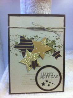 Stampin Up Star framelits. Under the tree SDSP. Glimmer paper. Punches. Gorgeous Grunge stamp set. CASed this beautiful card from Cindee Wilkinson's page. Made by Ladymajik Creations.