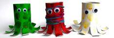 Inktvisjes knutselen van wc-rolletjes #inktvisjes #knutselen #knutselenmetkinderen #creatief #creatiefbezigzijn #thema #oceaan #tips #ideeen #maken Deco Paint, Paint Drying, The Conjuring, Basic Colors, Washi Tape, Little Ones, Clay, Outdoor Decor, Painting