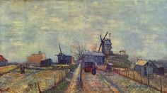 Vincent Willem van Gogh.  Gemüsegärten auf dem Montmartre. 1887, Öl auf Leinwand, 44,8 × 81 cm. Amsterdam, Van Gogh Museum. Niederlande und Frankreich. Neo-Impressionismus.  KO 01533