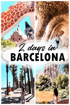 2 days in Barcelona are enough to taste a little of: the medieval atmosphere of the Gothic Quarter, Gaudi's avant-garde architecture Barcelona Sights, Barcelona Travel Guide, Visit Barcelona, Europe Travel Guide, Barcelona Spain, Spain Travel, Portugal Travel, Travel Plan, Budget Travel