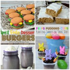 I love these ideas! Fun with Easter and April Fools foods