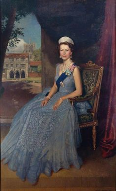"carolathhabsburg: "" Queen Elisabeth II by Edward Irvine Halliday "" Beautiful Die Queen, Hm The Queen, Her Majesty The Queen, Save The Queen, Queen Elizabeth Portrait, Queen Elizabeth Ii, Prince And Princess, Princess Kate, Isabel Ii"