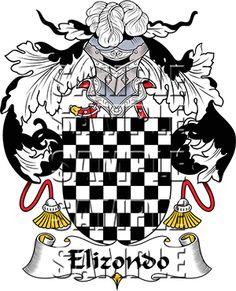 Elizondo Family Crest apparel, Elizondo Coat of Arms gifts