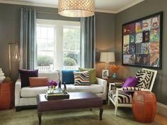 vintage einrichtung fürs wohnzimmer, viele bilder, weiße möbel ... - Wohnzimmer Retro Stil