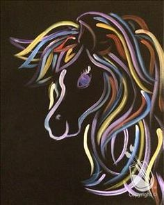 Easy canvas horse painting google search canvases for Painting with a twist arizona