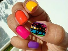 bright nail polish is a must in the summertime!