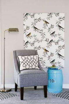 Quadri con stoffa riciclata - Quadro con uccellini