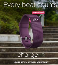 The Fitbit Charge HR... in Plum of course!