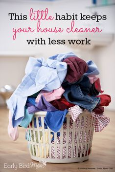 Do you feel like your house is always a mess with mail piled up, messy shoes, beds unmade? You might be making one critical error. Here's a simple tip how to fix it. Organisation, Room Organization, Laundry Tips, Doing Laundry, Laundry Room, Laundry Schedule, Cleaning Tips, Cleaning Routines, Cleaning Solutions