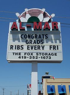 All-Mar, a bowling alley....... Bowling Green, Ohio.   lol I spent my 18th birthday here bowling.... The same night... Watched USA kick USSR arse for the GOLD in Hockey at the bar....