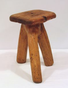 Homemade 3 legged milking stool.  Everybody with cows had at least one of these.