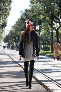 #dasynka #fashion #blogger #blog #christmas #hat #snowman #boots #high #red #black #salerno #sea #ferriswheel #lights #sunnies #forever21 #zara #asos #inspiration #shooting #model #xmas #backpack