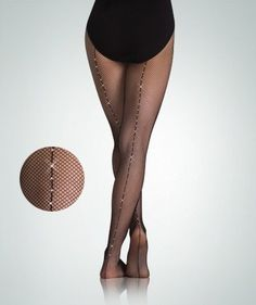 Body Wrappers C64 TotalSTRETCH Girls' Backseam Rhinestone Fishnet Tights (8-14, Black) Body Wrappers. $27.00