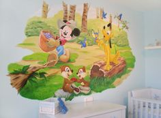 Mural Mickey y amigos.