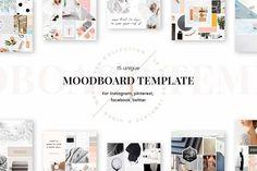 Mood Board Templates by Uidea on @creativemarket