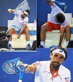 Marcos Baghdatis - 2012 Australian Open - Tennis Players Smashing Rackets-