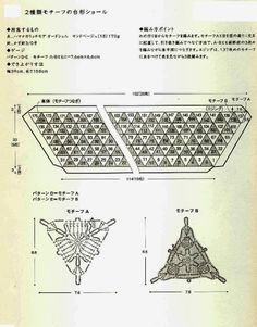 Ivelise Feito à Mão: Linda Estola Com Triângulos De Crochê....