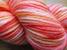 Ice Dying---So it's basically leaving frozen Kool-Aid dye on a hank of yarn, outdoors, Sun Tea style.