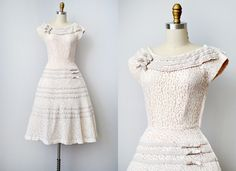 Oh my, I LOVE this 1950s dress / vintage 1950s lace party dress / Sweet Anniversary Dress. $228.00, via Etsy.