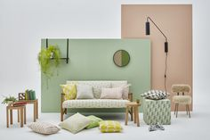 The new Skinny Laminx fabric range was inspired by brise soleil. Patterns like Aperture, Breeze and Weft are available. Design and architecture fuse. Solid Wood Furniture, Simple Pleasures, Mid Century Design, Fabric Decor, Soft Furnishings, Color Inspiration, Sweet Home, Interior Design, House Styles