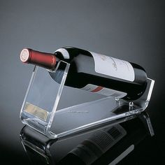 Acrylic wine bottle holder.