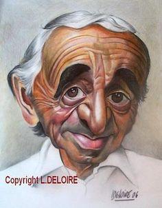 """""""Charles Aznavour""""   #art #caricature #très #réussie #offre #bonne #humeur #agréables #moments  #charlesaznavour   #art #caricature #very #successful #offer #good #mood #pleasant #moments"""