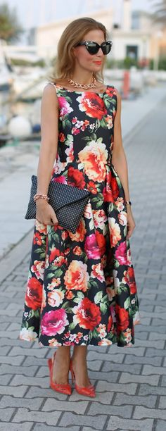 Retro Floral chic Dress