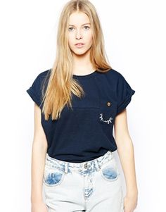 Bellfield T-Shirt With Roll Sleeves
