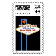 Las Vegas Sign Bachelor Party Postage Stamp. Wanna make each letter a special delivery? Try to customize this great stamp template and put a personal touch on the envelope. Just click the image to get started!