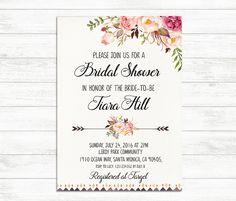 BRIDAL SHOWER Invitation Printable Bridal Invite by BaloeDesigns