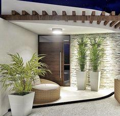 Modern House Design 709246641305293319 - House exterior design 832884524825503958 Source by Entrance Design, House Entrance, Door Design, Entrance Decor, Entrance Ideas, Modern Entrance Door, Tv Wall Design, Design Case, Entrance Hall