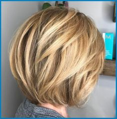 Caramel Blonde Rounded Layered Bob - 60 Classy Short Haircuts and Hairstyles for Thick Hair - The Trending Hairstyle - Page 36 Short Layered Haircuts, Short Hairstyles For Thick Hair, Haircut For Thick Hair, Short Hair With Layers, Short Hair Cuts, Layered Hairstyles, Layered Bobs, Medium Short Layered Hair, Bob With Layers