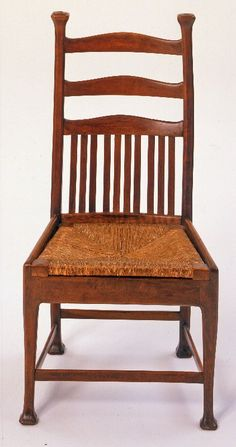 Arts and Crafts side chair, Walter Frederick Cave, ca. 1900.