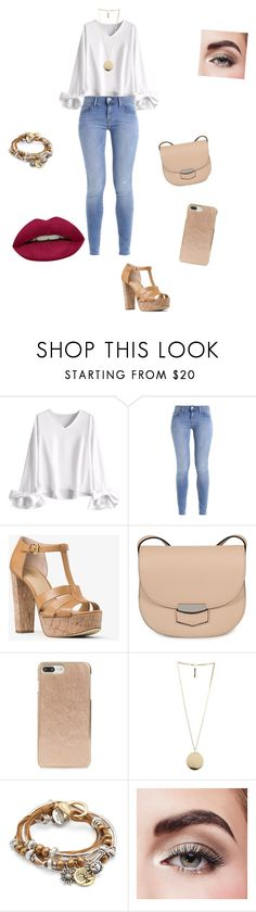 """""""My outfit//tonight//18th"""" by miss-delly ❤ liked on Polyvore featuring MICHAEL Michael Kors, CÉLINE, Kate Spade, Givenchy, Lizzy James, Avon and Huda Beauty"""