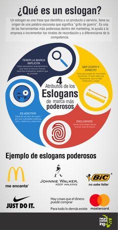 4 atributos de un eslogan #infografia