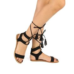Qupid Athena-961 Women's Tall Lace Up Sandal ** Wow! I love this. Check it out now! : Lace up sandals