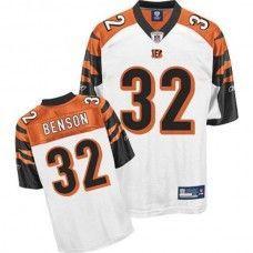 a56afde9cb3 Bengals  32 Cedric Benson White Stitched NFL Jersey Football Gear
