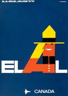 El Al Canada travel poster, designer - Dan Reisinger.