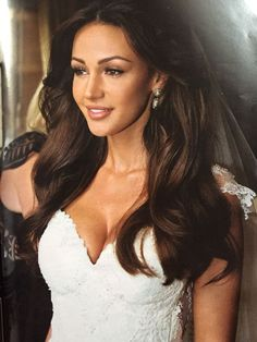 Michelle Keegan in her amazing wedding dress ready to get married to mark wright ❤️ Loving her hair!