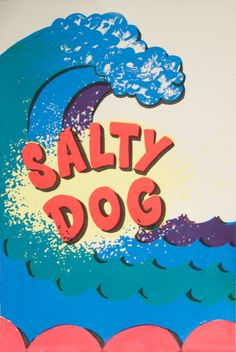 """Salty Dog 14"""" by 9.5"""" screen print by NathanStangArtDesign on Etsy, $25.00"""