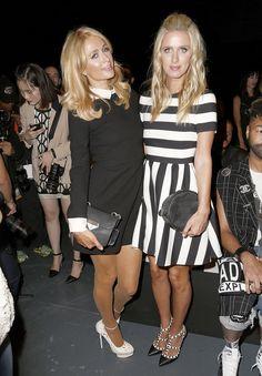 Paris et Nicky Hilton à la Fashion Week de New York