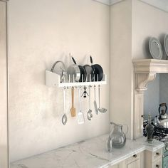 *pinitforlater *findoutmore studio apartment storage.   SPACE SAVING - Wall Mountable Wooden Rack holds your beautiful kitchenware while saving space on your Kitchen Counter. Storage efficient and will keep your Kitchen organized #studioapartmentstorage