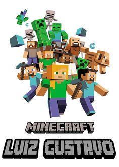 Arte Minecraft para camiseta de aniversário - Estamparia Ruari