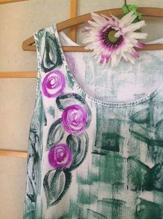 Hand Painted Sun Dress  Hand Painted Dress Kauai by PetrinaBlakely #integritytt