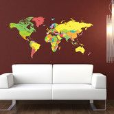 Featuring the names of all the countries of the world our detailed world map wall stickers are both educational and decorative. Wall Stickers, Wall Decals, World Map Wall Decal, Detailed World Map, Cheap Art, Living Room Redo, Beautiful Wall, Kids Decor, Decor Ideas