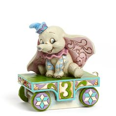 Jim Shore Disney Traditions Dumbo Third 3 Birthday Mickey Train Series