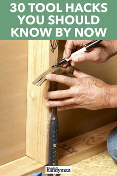 Fine Woodworking Projects 30 Tool Hacks You Should Know By Now.Fine Woodworking Projects 30 Tool Hacks You Should Know By Now Woodworking Techniques, Woodworking Tips, Woodworking Furniture, Woodworking Vacuum, Sauder Woodworking, Carpentry Tools, Woodworking Magazine, Woodworking Workbench, Bricolage