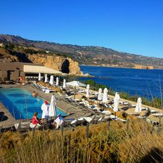 View of the adult pool #Terranea #RancoPaloVerdes