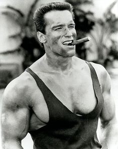 Arnold with cigar